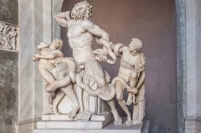 Estátua Grupo de Laocoonte, também chamada de Laocoonte e seus filhos