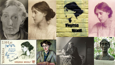 collage de retratos de Virginia Woolf (Wikimedia Commons)