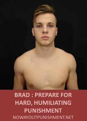 Straight sporty guy Brad takes a hard spanking for No Way Out Punishment