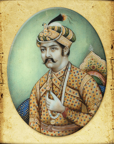 Jahangir (1605-1627) and his wife Nur jahan