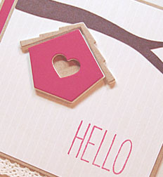 Hello card-designed by Lori Tecler/Inking Aloud-stamps and dies from The Cat's Pajamas