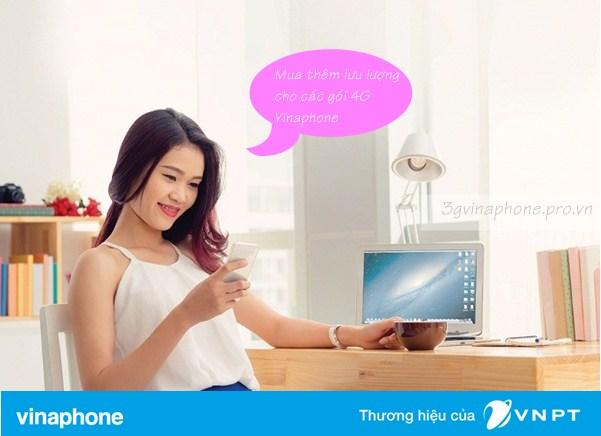 Cách mua thêm dung lượng data 4G Vinaphone tốc độ cao