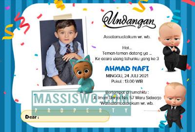 undangan ulang tahun gratis