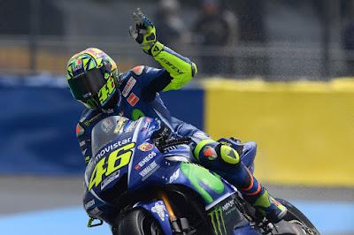 Rossi Enjoy Finis Ke-10 di Hari Pertama GP Prancis
