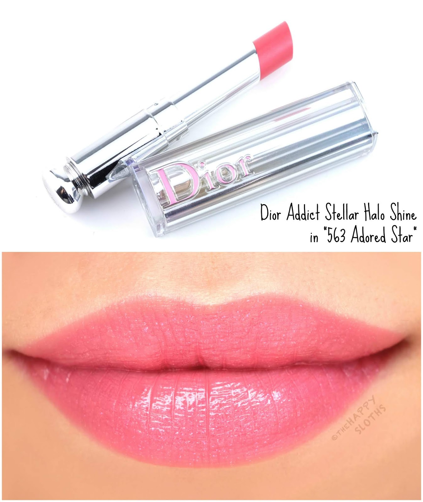 "Dior | Dior Addict Stellar Halo Shine Lipstick in ""563 Adored Star"": Review and Swatches"