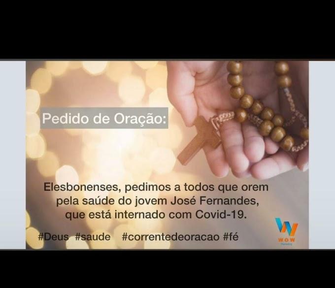REZEM POR ELE: Família pede orações para o jovem José Fernando, que luta contra a Covid-19.
