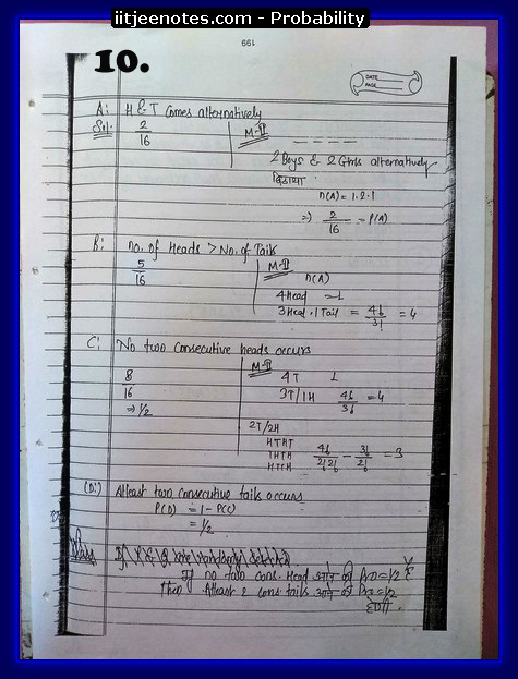 probability notes cbse