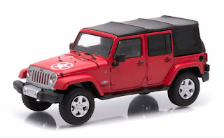 86063 1 43 Scale 2017 Jeep Wrangler Unlimited Soft Top In Flame Red Freedom Edition