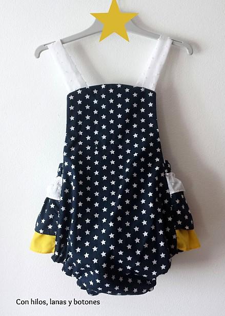 Con hilos, lanas y botones: Ranita Sunsuit