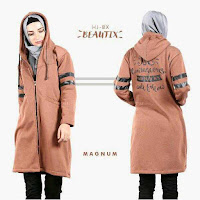 HijaBenka Sweater Hoodie Zipper HiJacket Magnum ANDHIMIND