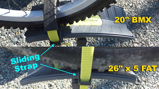 Swagman Sitkka 2 Zero Frame Contact Fatbike Rack Review Tire STrap