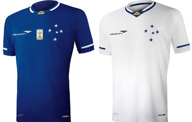 0887e0cbf65ab Camisas utilizadas pelo Cruzeiro hoje (Créditos  Penalty Cruzeiro  Divulgação)
