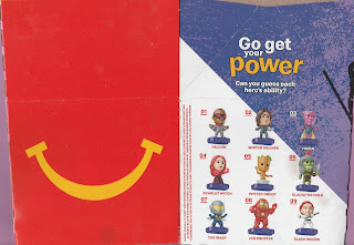 Back and left panel of Marvel Studios Hereos Happy Meal Box