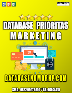 Jual Database Nasabah Nasabah Prioritas Marketing