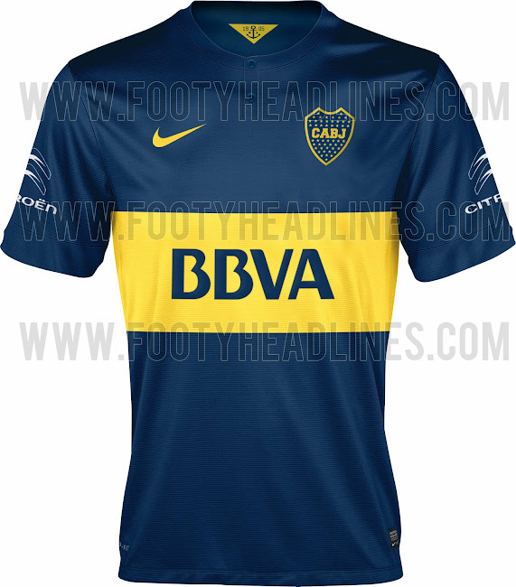 New Boca Juniors 2014-2015 Season Nike Home Kit Leaked