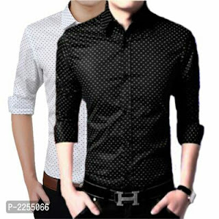 Satin Slim Fit Casual Shirts