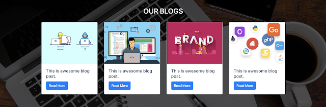 Blog Section on Creative Agency Template
