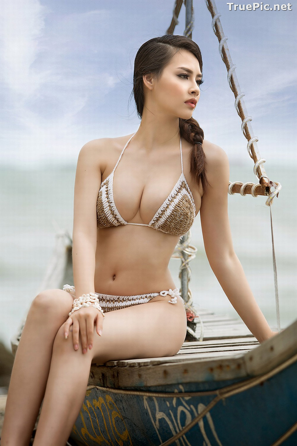 Image Vietnamese Hot Model - Thuy Trang - Wool Bikini Collection - TruePic.net - Picture-1
