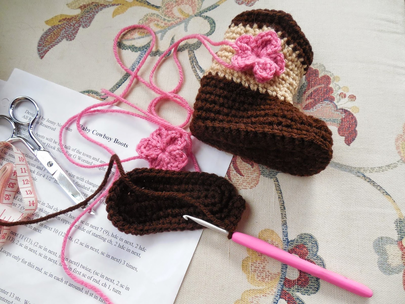 Britteny Off The Hook Baby Cowboy Booties Made To Order Free