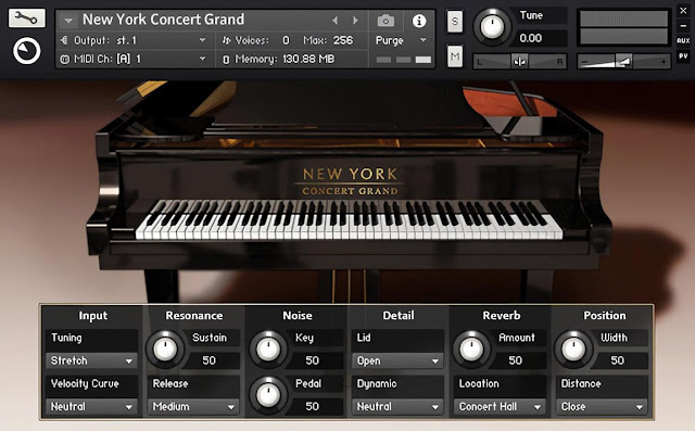 Interface da Library Native Instruments - New York Concert Grand 1.3.0 (KONTAKT)