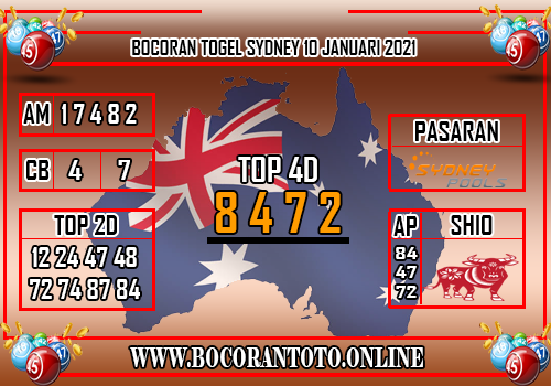 Bocoran Sydney 10 Januari 2021