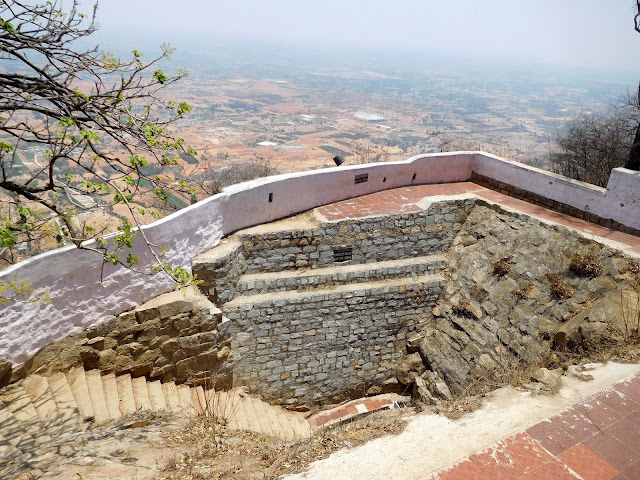 The source of the Penna River, on top of Nandi Hills