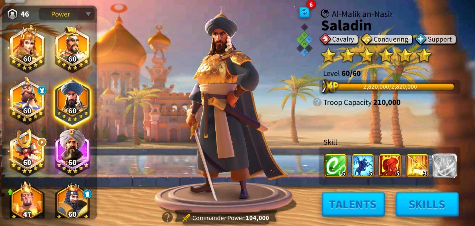 komandan cavalry rise of kingdoms
