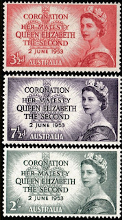 1953 Coronation Of Queen Elizabeth II Pre-decimal Stamp Set Australia