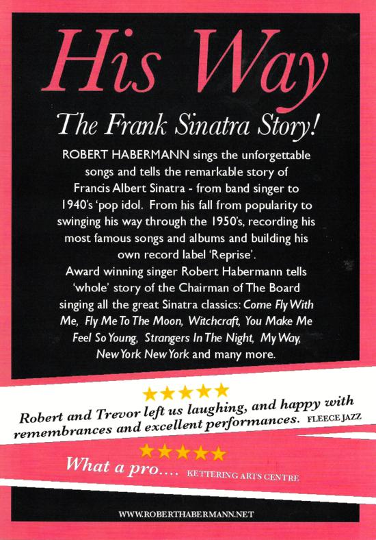 Flyer for Robert Habermann's The Frank Sinatra Story
