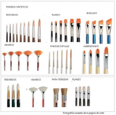 Tipos De Pinceles Formas Sus Usos Y Accesorios