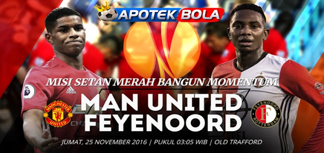 Prediksi Pertandingan Manchester United vs Feyenoord 25 November 2016