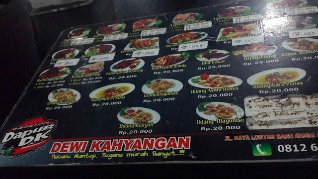 Kuliner Dapur Dewi Kahyangan DK Surabaya