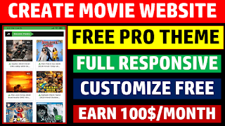 Free Pro Theme Full Responsive Customize Free Earn 100$/Month