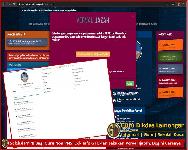 Seleksi PPPK Bagi Guru Non PNS, Cek Info GTK dan Lakukan Verval Ijazah