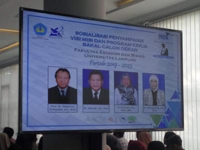 Kandidat Dekan FEB Unila Sosialisasikan Visi dan Misi