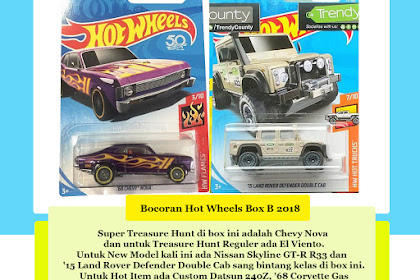 Bocoran Hot Wheels Box B 2018 (Welcome Mr. Landy)