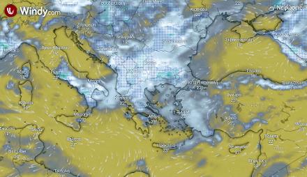 Τοπικα ισχυρές βροχές και καταιγίδες αύριο στα βόρεια και κεντρικά ηπειρωτικά της χώρας από το απόγευμα και μετά