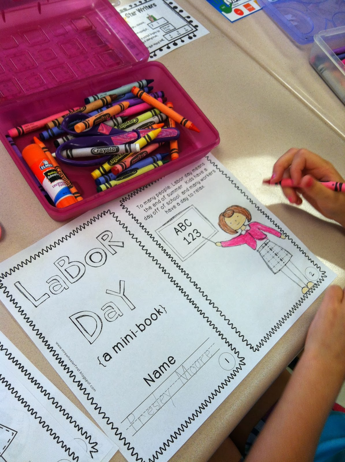 Mrs Wheeler S First Grade Tidbits Labor Day