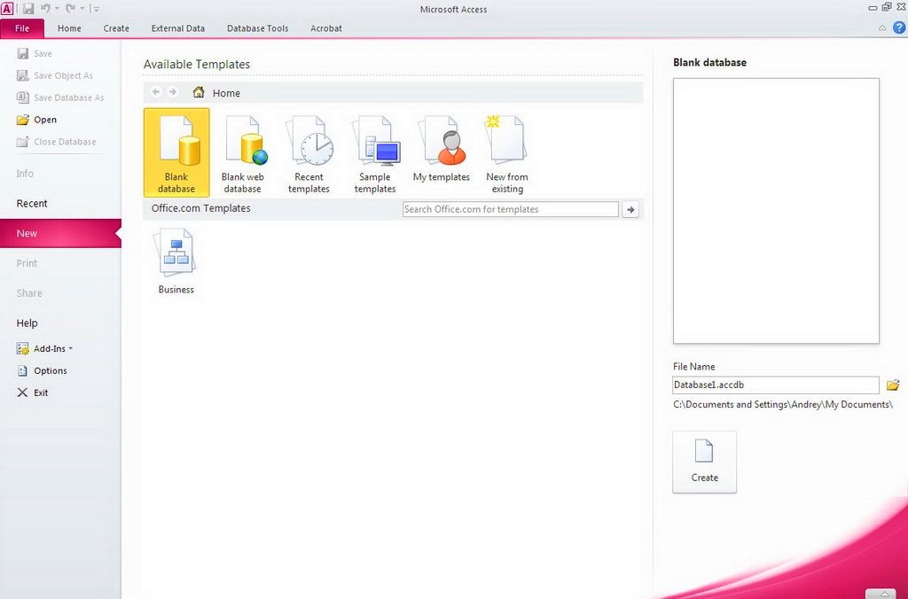 Microsoft Office 2010 Access