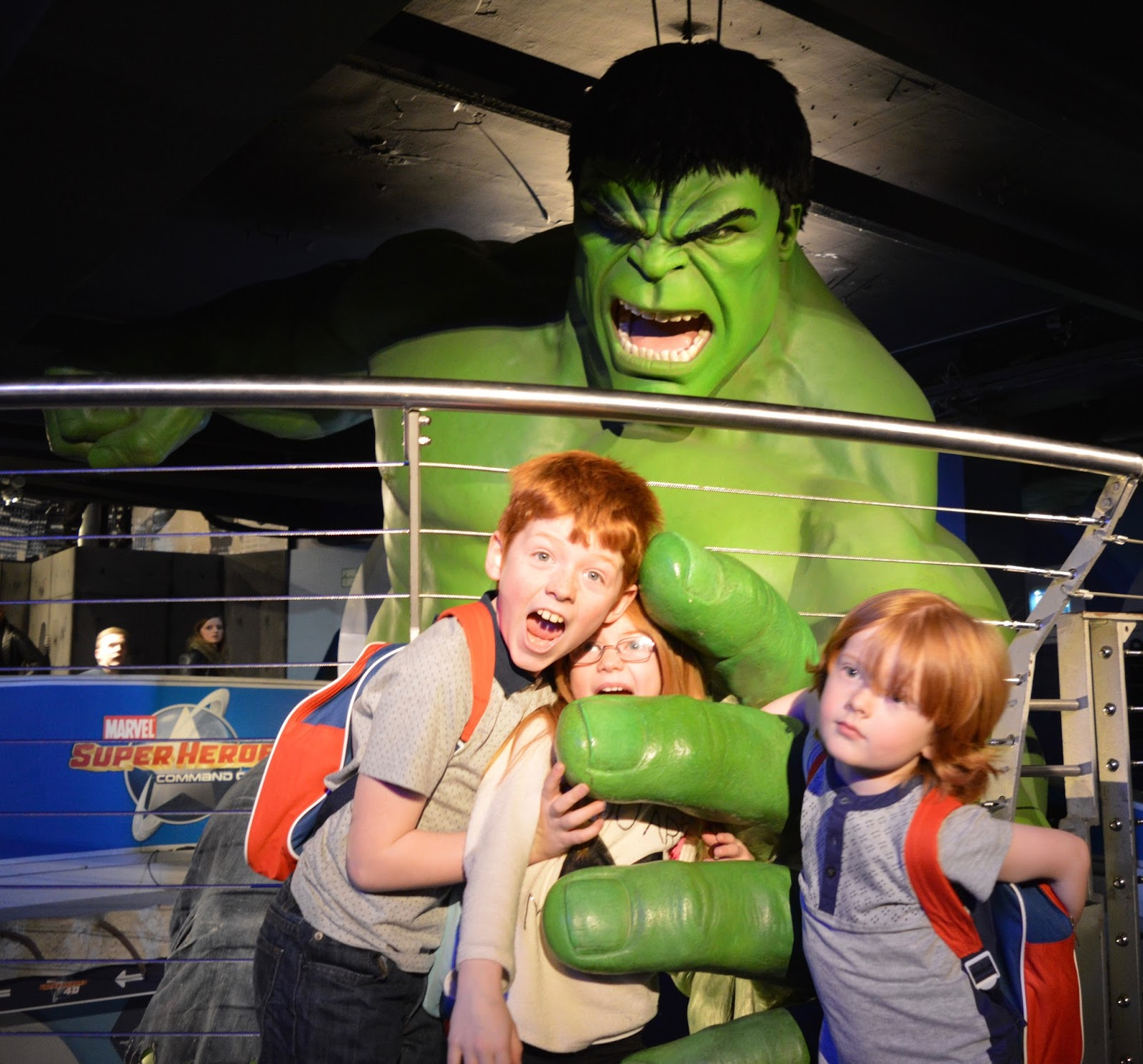 A family day trip to London with Virgin Trains East Coast - Madame Tussauds Hulk
