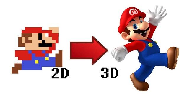 Compare 2D vs 3D Mario Games