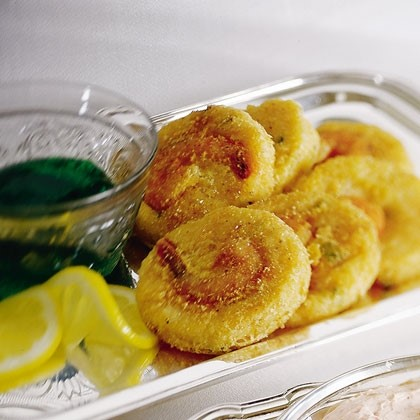 Grits Cakes with Shrimp Jalapeno Jelly Recipe