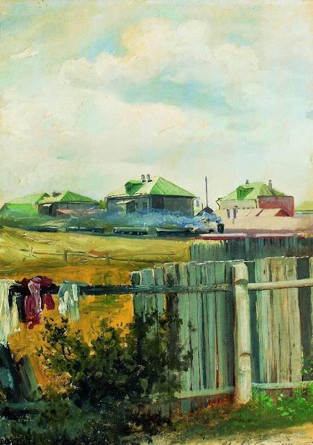 Исаак Ильич Левитан - Пейзаж с забором