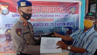 Sambut HUT Polair Ke 70, Satpolair Polres Pelabuhan Makassar Gelar Baksos