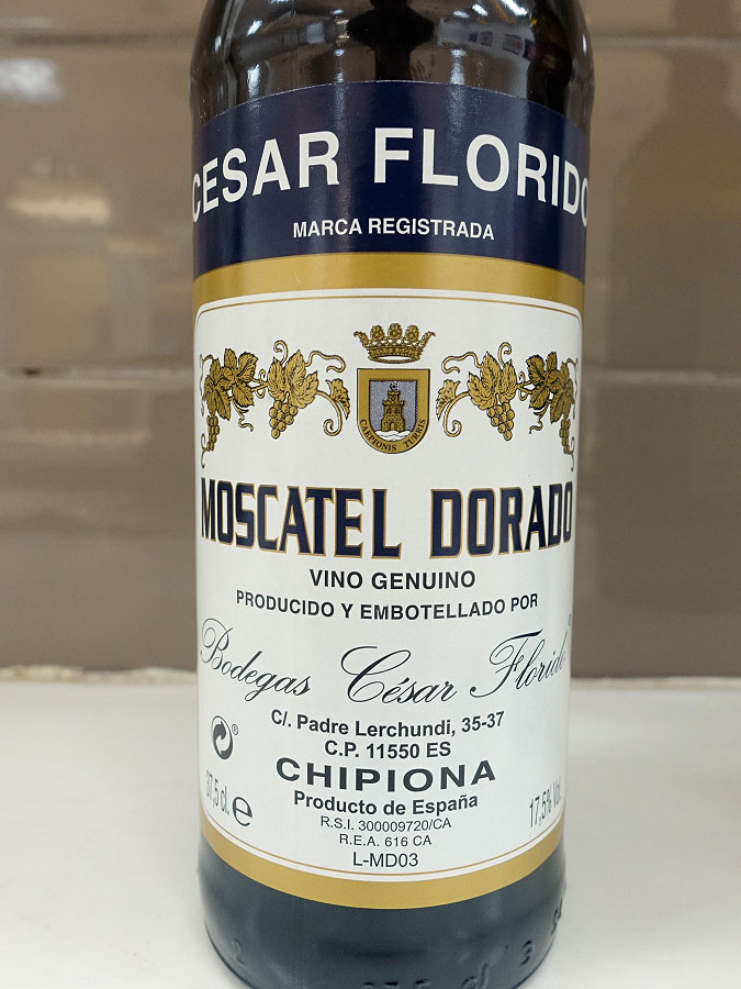César Florido Chipiona Dorado Moscatel