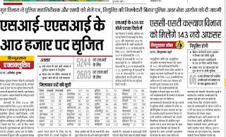 Bihar Police Sub Inspector Recruitment 2018 Bihar Police Daroga Bharti Updates Bihar Police SI & ASI Recruitment 2018