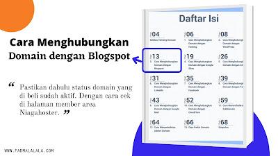 Cara Menghubungkan Domain Blogspot