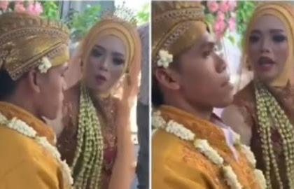 Baru Aja Nikah, Suami Ini Udah Diomelin Istrinya Di Atas Pelaminan