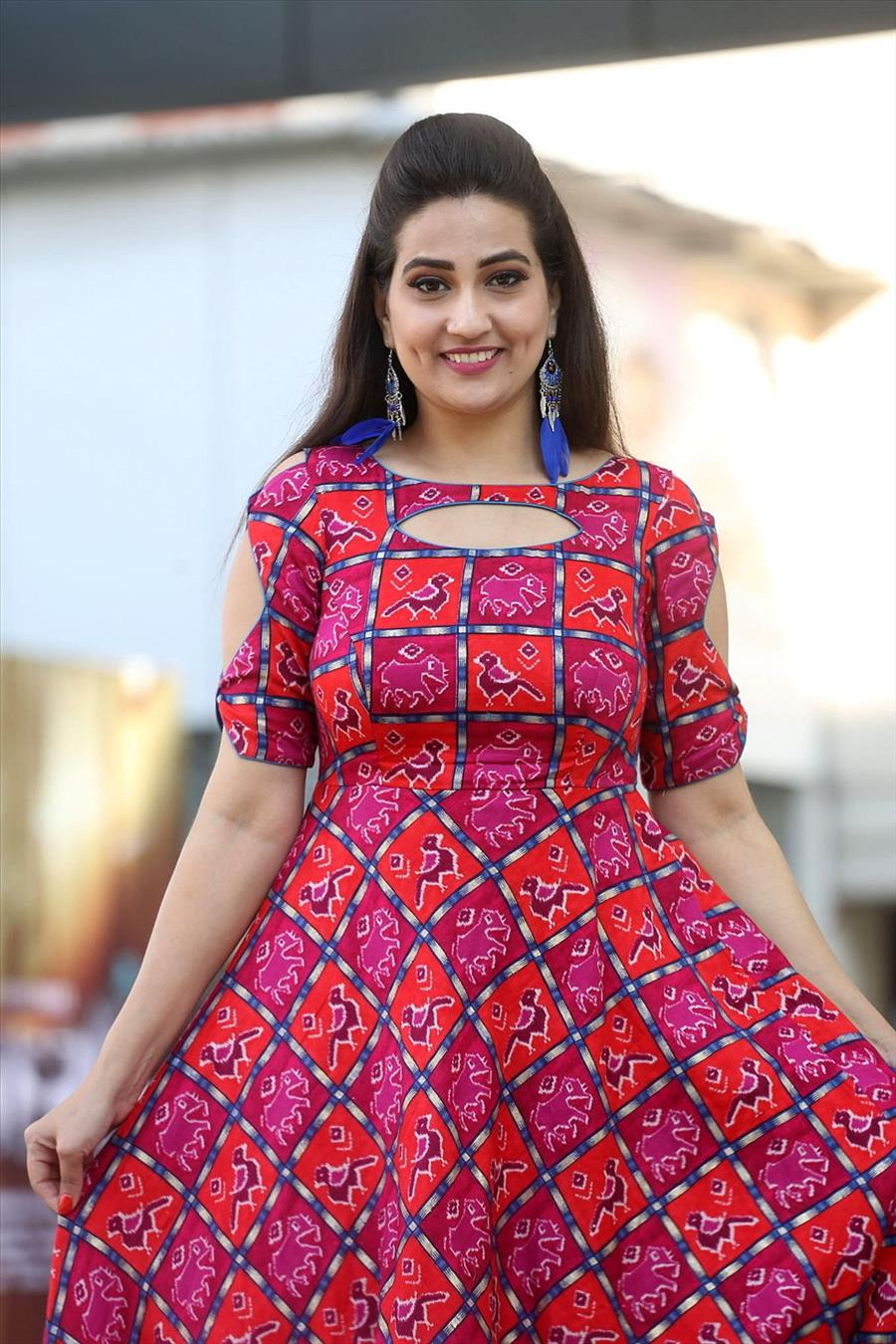 Indian TV Anchor Manjusha at Chanakya Movie Trailer Launch