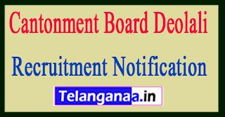 Cantonment Board Deolali Recruitment Notification 2017